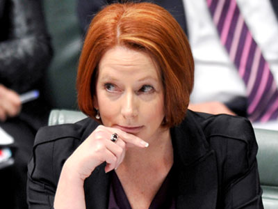 Former Prime Minister Julia Gillard, pictured in parliament.