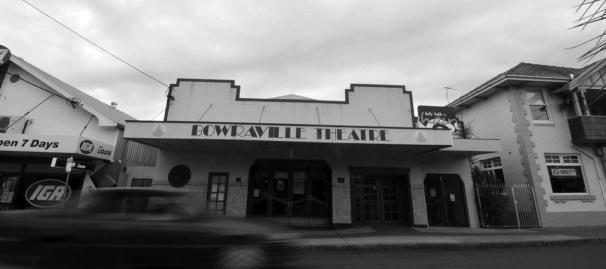 The infamous Bowraville Cinema, in the main street. Until the late 1960s early 1970s Aboriginal people had to enter through a side door, and were sat at the front of the theatre on wooden chairs, separated from the whites up the back in the comfy seats (in a roped off area). Of course 'the blacks' had to pay the same entry price. I snapped this shot in monochrome to give it an 'older' feel and slowed the shutter right down to blur the car going past (and give a little 'action' to an otherwise still photo).