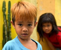 This kid's hair is even more vibrant the the walls. (IMAGE: CHRIS GRAHAM)