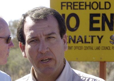 Former Minister for Indigenous Affairs, Mal Brough.... his plan to transform home ownership on Indigenous lands has been a policy failure.