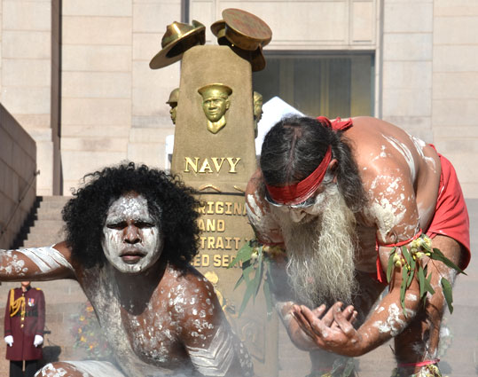 The Aboriginal and Torres Strait Islander Anzac Day ceremony, to coincide with NAIDOC Week 2013 in Sydney.