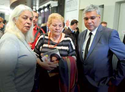 Professor Marcia Langton (left) and Warren Mundine (right).
